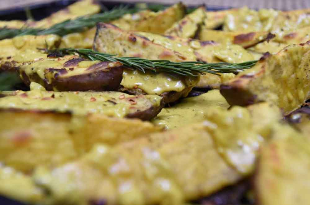 New Year recipes: Baked sweet potatoes in coconut sauce
