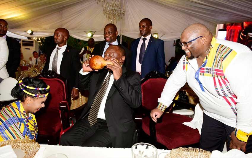 President Ramaphosa's Ugandan in-laws 'finally accept' his royal wedding give-aways
