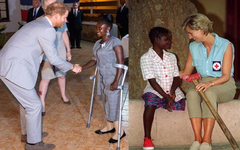 Prince Harry meets same landmine victim visited by mum Diana 22 years ago
