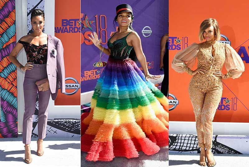 The best dressed female celebrities at the BET Awards 2018