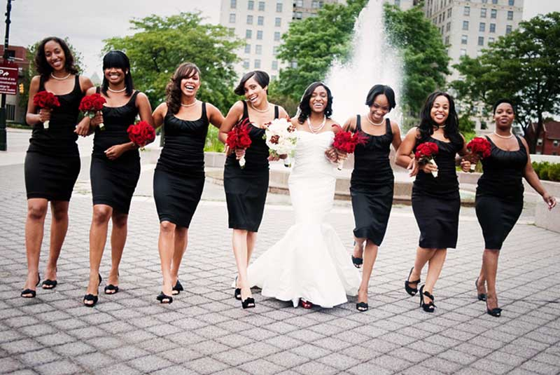 The five common duties of bridesmaid