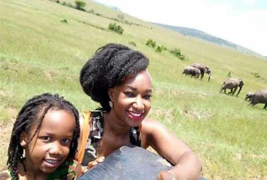 TV host Talia Oyando gives her son a touch of the wild, celebrate Easter at Mara