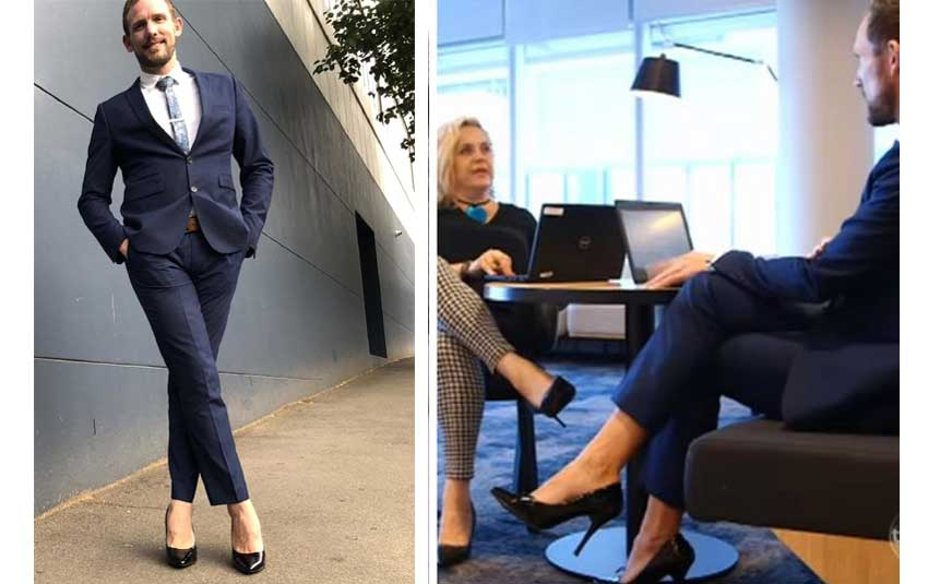Video: Meet the man who unapologetically rocks six inch heels to work