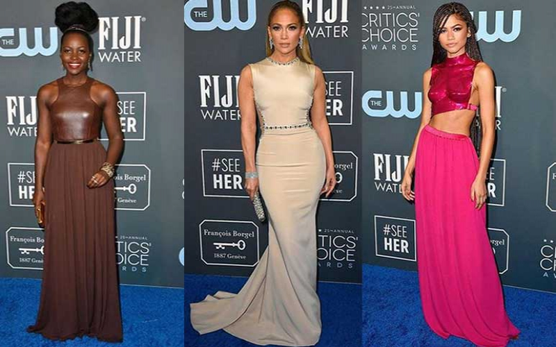What the stars wore at the Critics' Choice Awards 2020