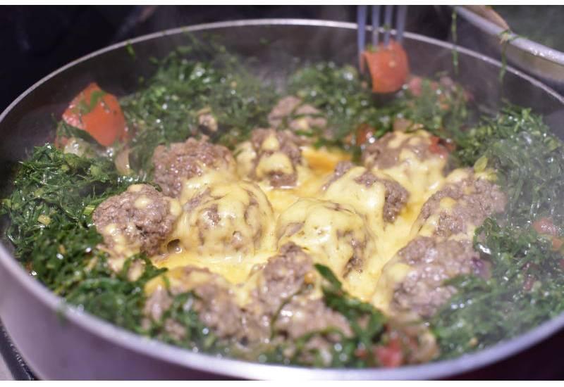 Easy recipe: Cheesy meatballs and sukuma wiki
