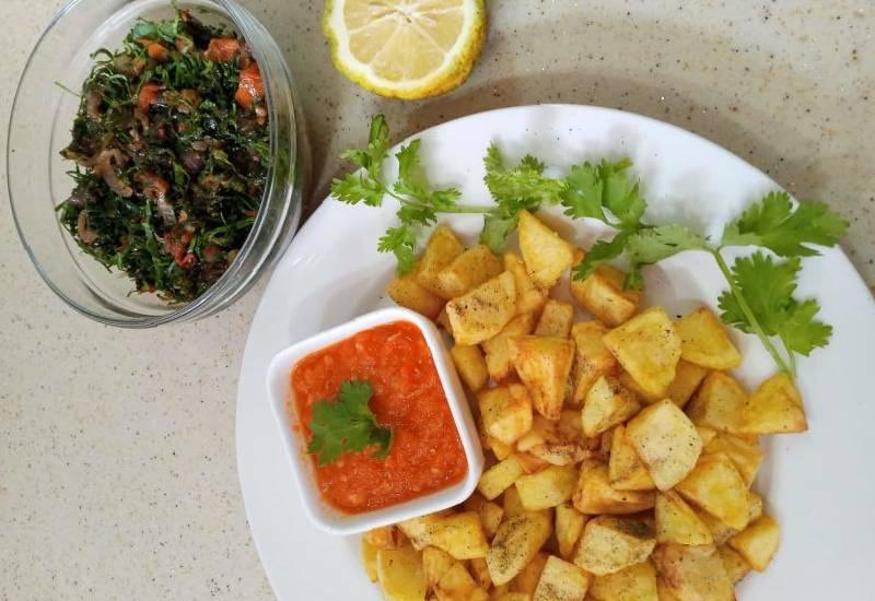 #EasyRecipe: Sautéed potatoes with sukuma plus