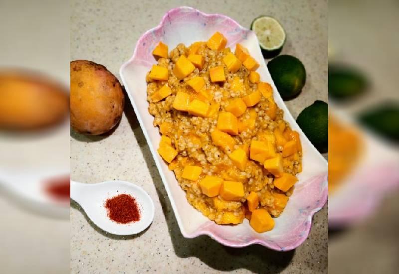 #EasyRecipe: Sorghum and mango salad