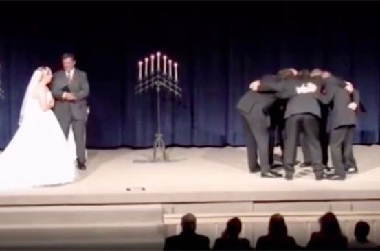 Groom pulls prank midway through wedding vows - and it's really dividing opinion