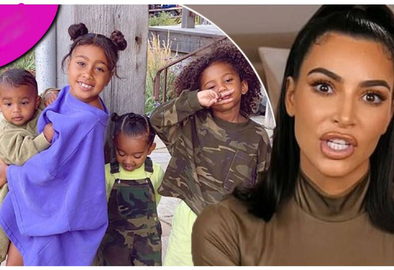 Kim Kardashian 'losing her mind' as she looks after kids without help in lockdown
