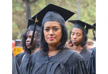 Leading by example: Esther Pasarris graduates from USIU