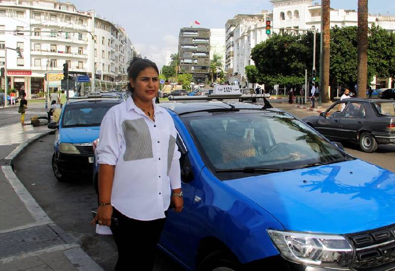 Meet Rabat's only woman taxi driver