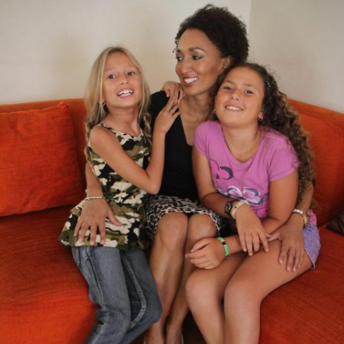 Wandia and her two pretty girls