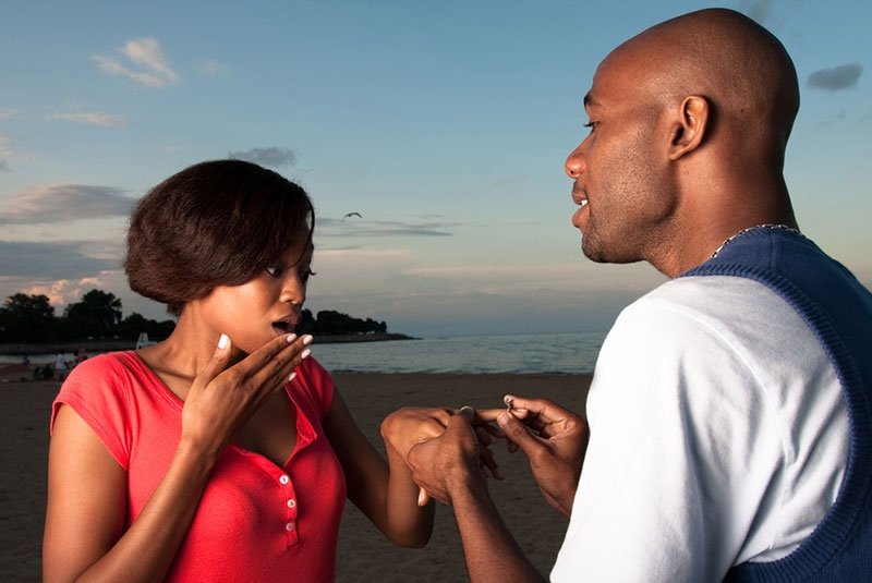 Real men don't propose, they just marry