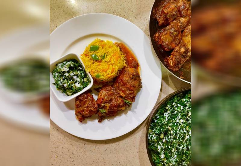 Easy recipe: Chicken with fried rice and coconut sukuma