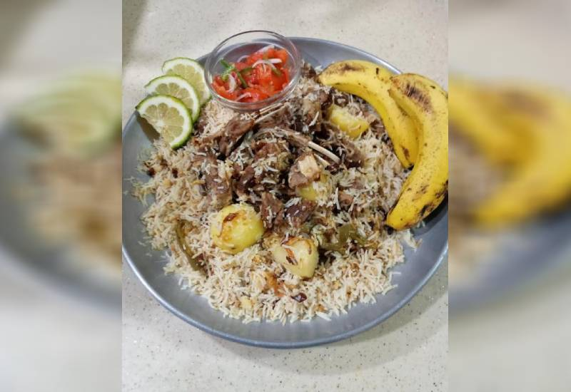 Easy recipe: Delicious goat rice 'pilaf'