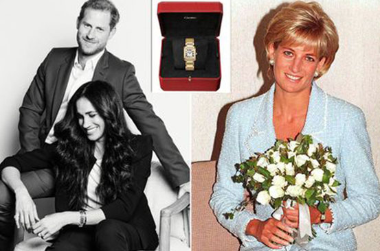 Meghan Markle wears Princess Diana's Cartier watch in new photo with Prince Harry