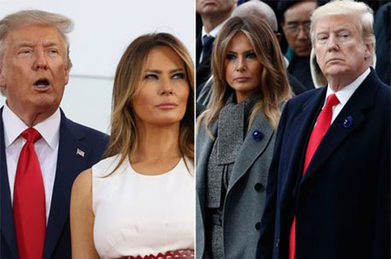 Melania and Donald Trump 'slept in separate rooms' in the White House during presidency