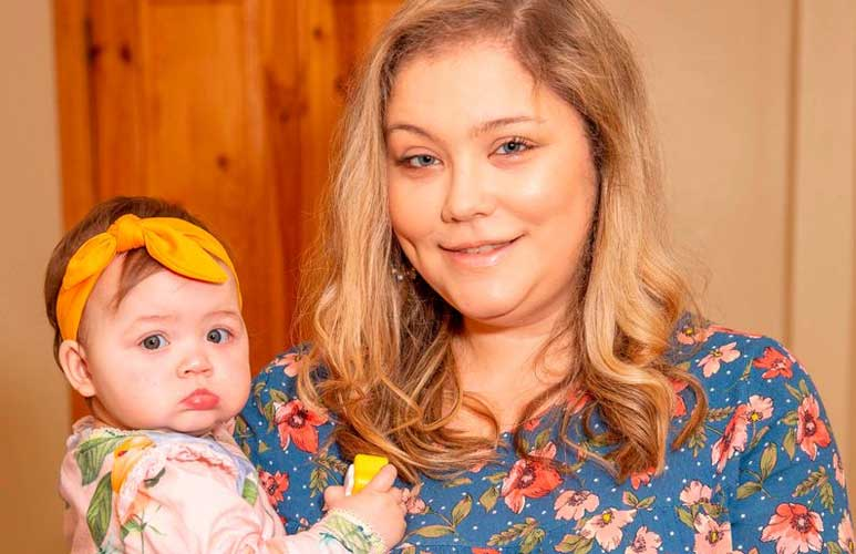Mum says baby saved her life after awkward position in womb blocked huge blood clot