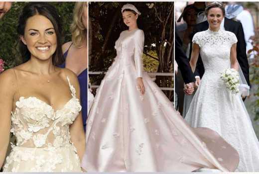 Best international celebrity wedding dresses of 2017