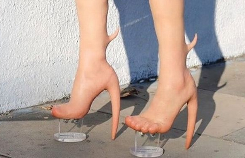 Bizarre 'human skin' heels make you look barefoot, leaves fashionistas baffled