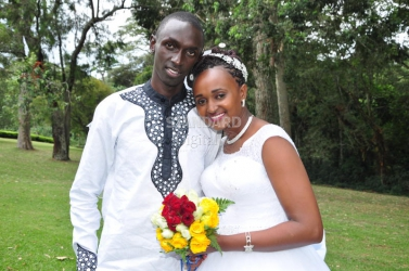 We chose the greens of Kericho for our wedding day