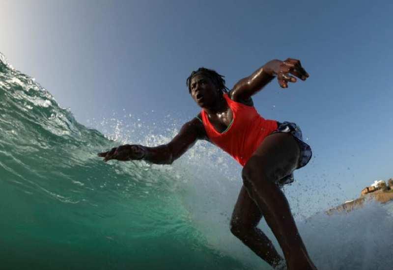 Khadjou Sambe: Meet Senegal's first female pro surfer drawing others in her wake