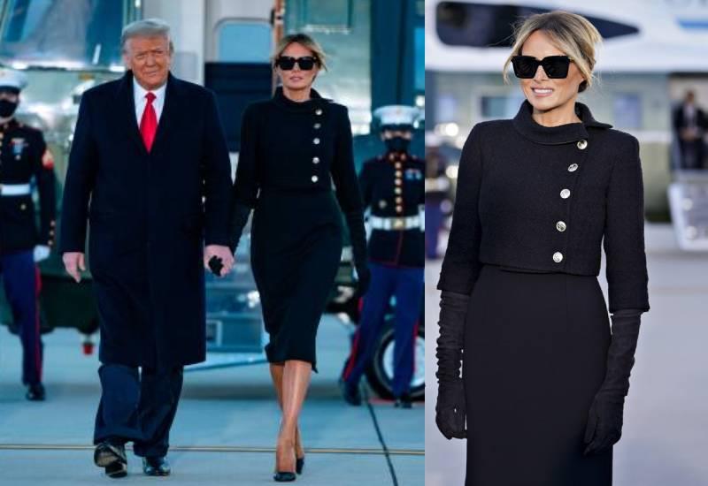 Melania Trump goes all black on her last day as FLOTUS
