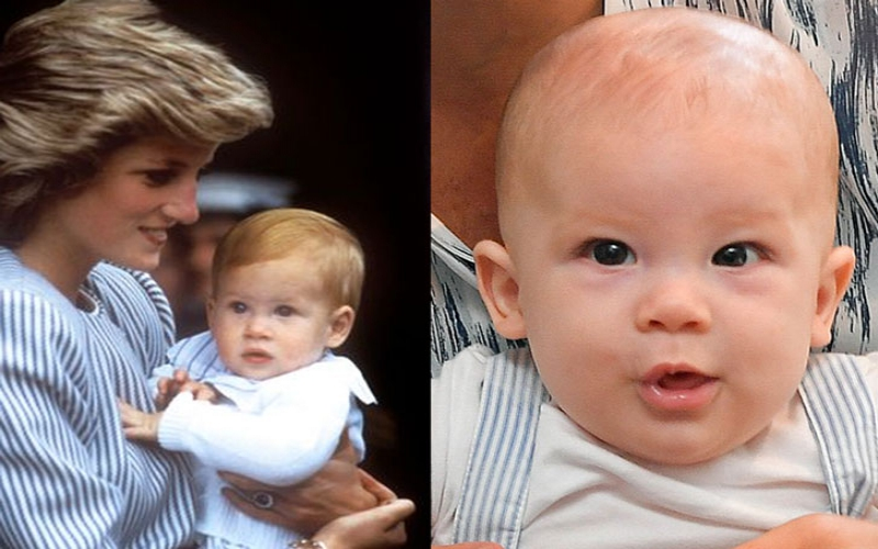 Archie is the spitting image of his dad Prince Harry when he was a baby
