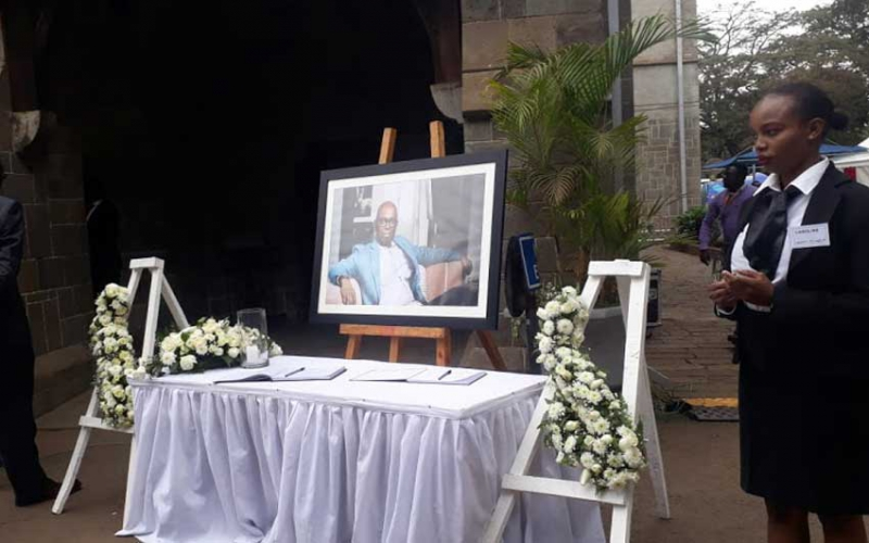 Bob Collymore's widow dresses as per his wish for the memorial service