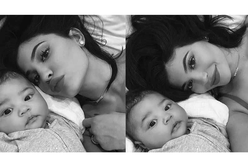 Kylie Jenner's decision to pierce her young baby's ears sparks hot debate online