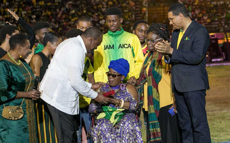 President Uhuru fetes Bob Marley widow during Jamaica's 57th Independence Grand Gala