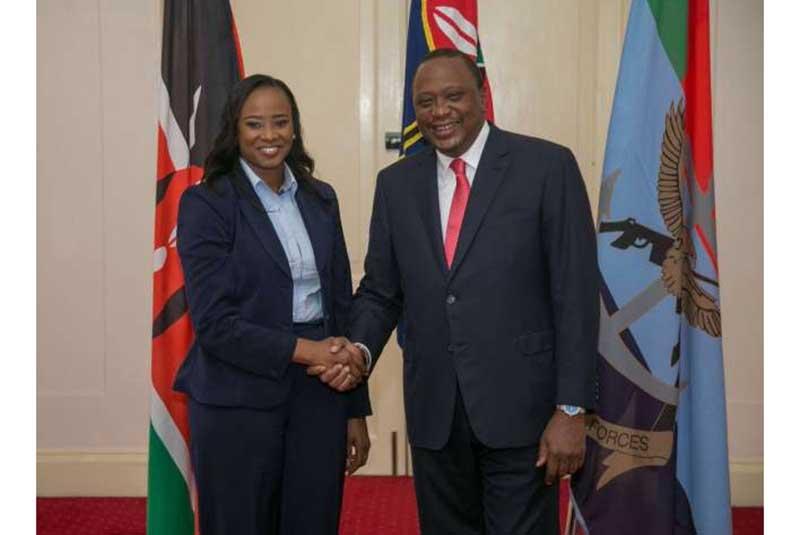President Uhuru's message to Kanze Dena after press briefing sparks a debate online
