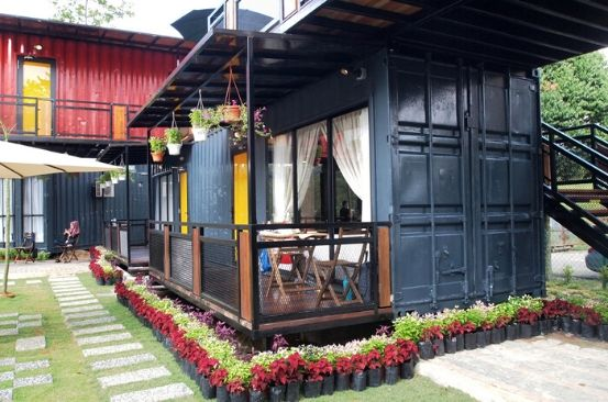 Turn a shipping container to a lively space