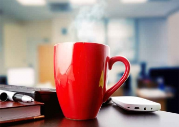 Why you should never keep a mug on your desk at work - even if you wash it every day
