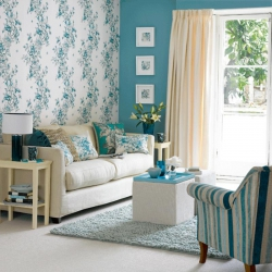 Browns and blues for your living room?