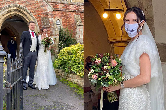 Couple rearrange their 200-person wedding in just 24 hours to beat lockdown restrictions