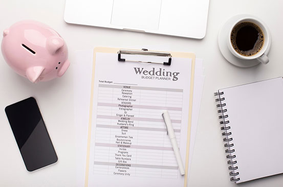 Creating a wedding budget and saving for what you want