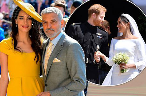 George and Amal Clooney 'said they didn't know Prince Harry and Meghan' at wedding