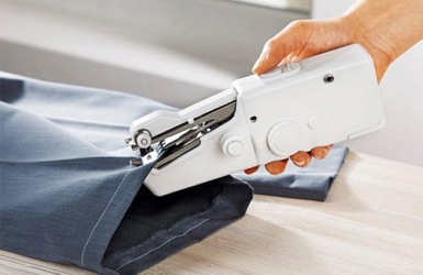 We're craZzy about this Handheld Sewing Machine