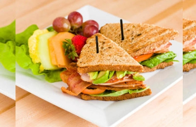 How about this delicious Vegetarian club sandwich