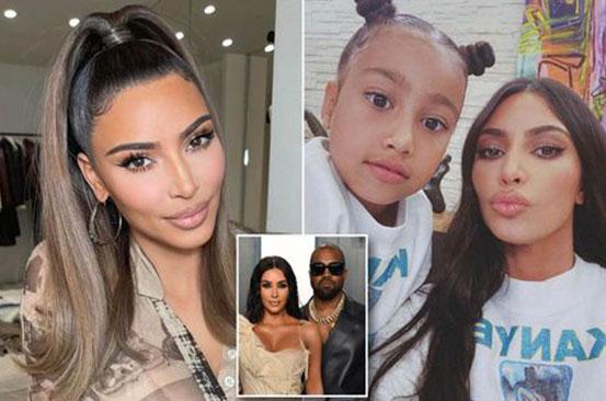 How Kim Kardashian broke news of 'Kanye divorce to seven-year-old daughter North'
