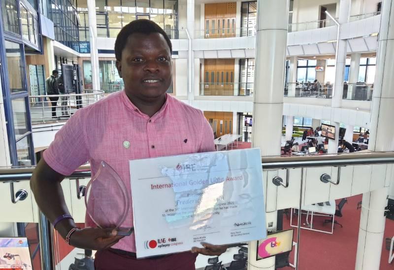 Kenya's Fred Beuchi awarded the IBE Golden Light Award
