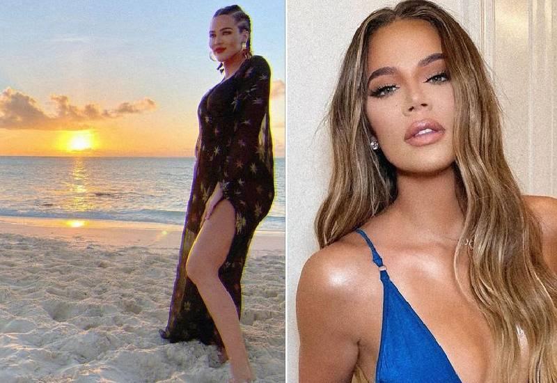 Khloe Kardashian fans suspect she's pregnant in 'bump' snap after Tristan reunion