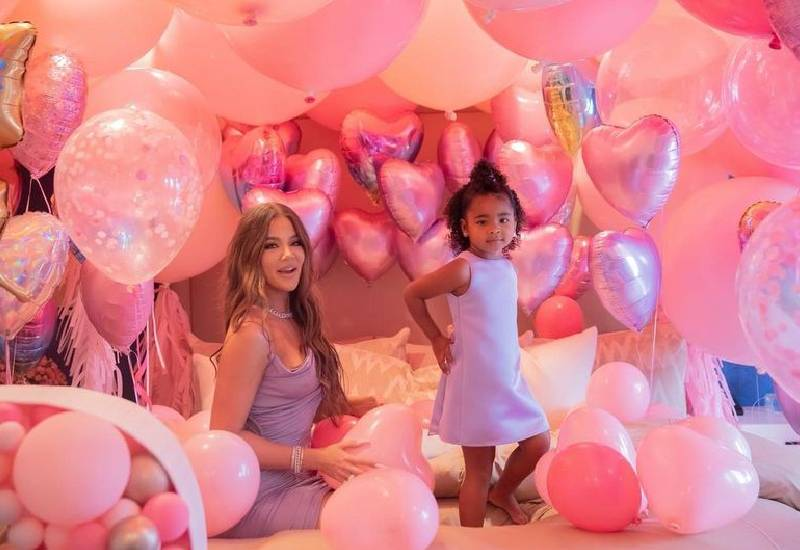 Khloe Kardashian goes over the top for True's birthday with hundreds of balloons
