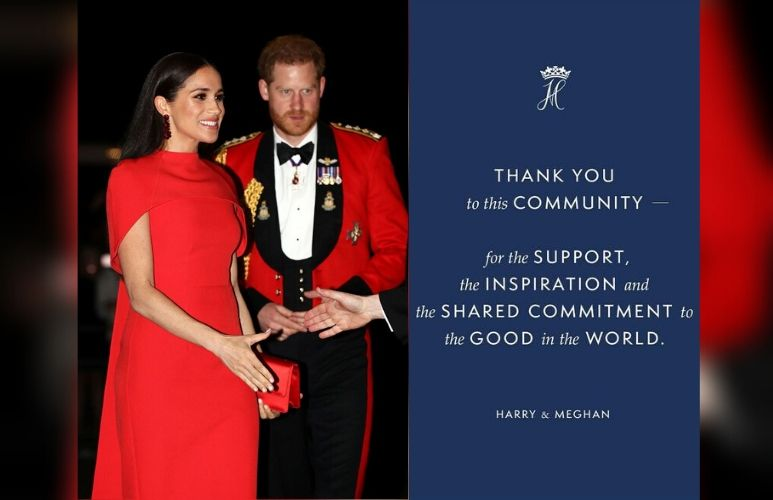 Meghan Markle and Harry share sweet goodbye message to fans in final Instagram post