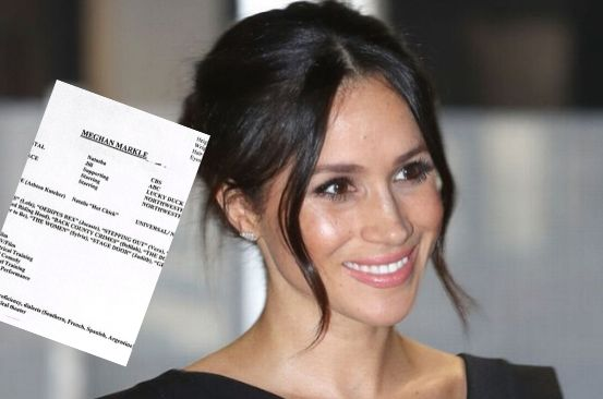 Meghan Markle's old CV shows 'special skills' and lists height, weight and eye colour