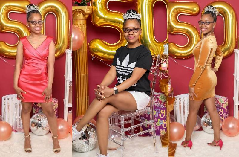 Mother of two's 50th birthday photo-shoot takes internet by storm