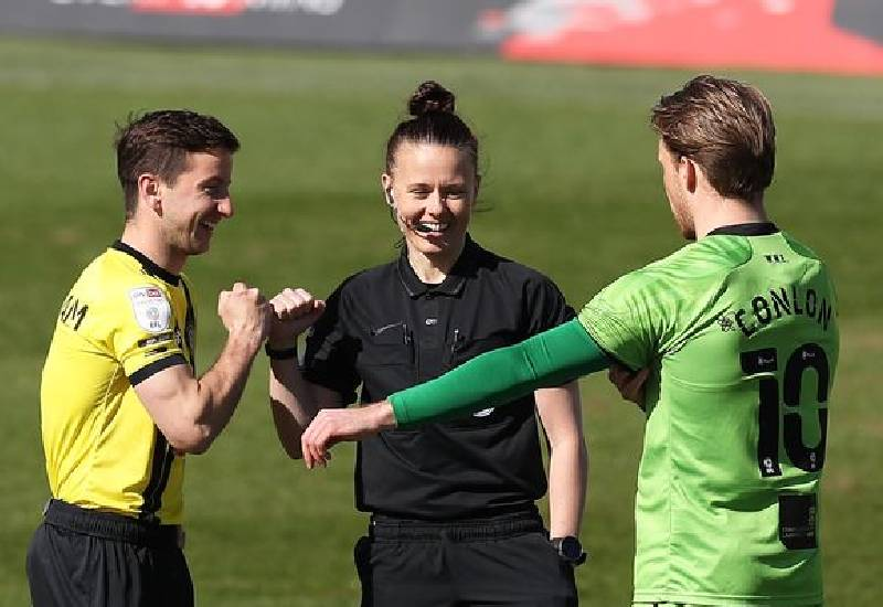 Rebecca Welch makes history as first-ever female English Football League referee