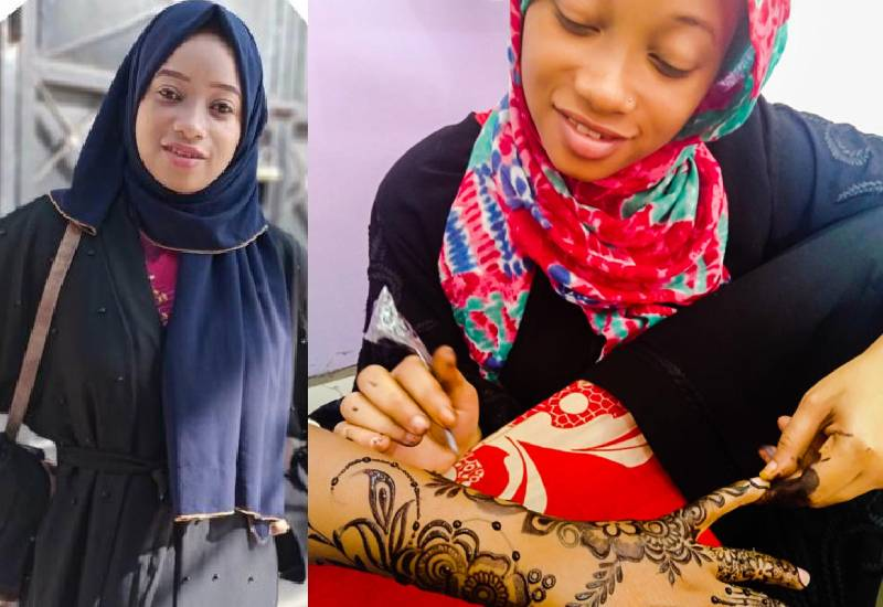 Sh100 and I was all set for my first henna client
