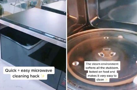 Simple cleaning hack leaves filthy microwave gleaming without scrubbing